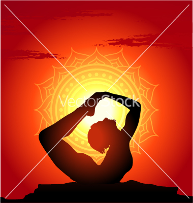 yoga-poses-at-sunset-background-vector-952732